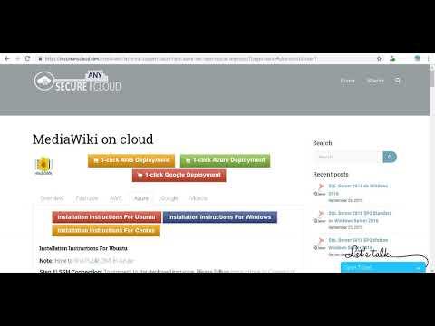 Secured MediaWiki on Ubuntu 14.04 LTS- Deploy on Azure , AWS and Google Cloud Platform.