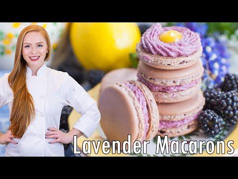 Lavender Macarons With Blackberry Lemon - BEST EVER!