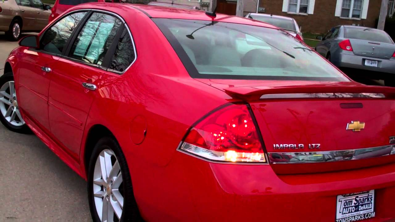 2011 chevrolet impala ltz victory red dekalb il near malta il youtube. Black Bedroom Furniture Sets. Home Design Ideas