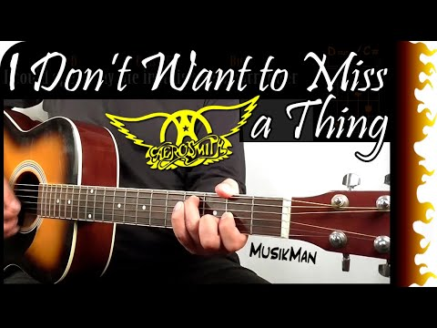 I DON'T WANT TO MISS A THING 👨‍🚀🚀 - Aerosmith / GUITAR Cover / MusikMan #056
