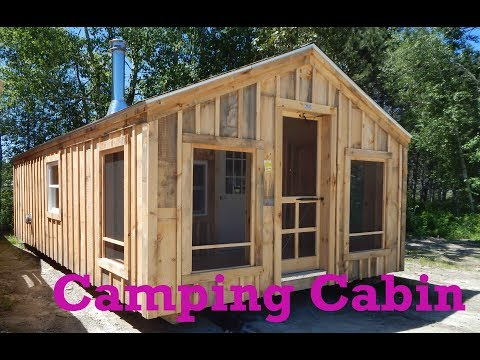 14x26 Camping Cabin - OTR Over the Road Legal - Deliver Fully Assembled