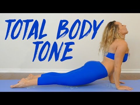 Total Body Yoga Burn with Becca  20 Minute Workout, Tone & Sculpt…