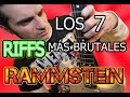 Download RAMMSTEIN:LOS 7 RIFFS MÁS BRUTALES DE GUITARRA MP3 song and Music Video