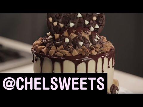 Chocolate Cookie Dough Cake | Food Network