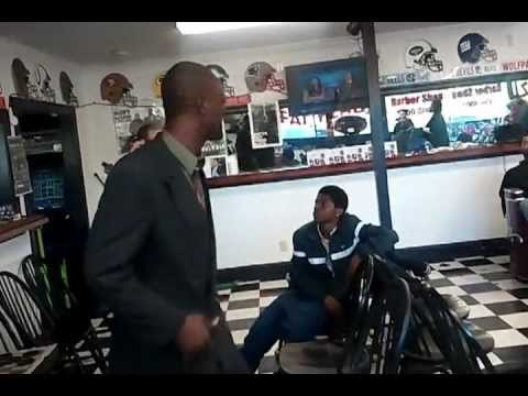 My Tears of Blood (A man sang about his life in a barbershop) MUST SEE!! Deep