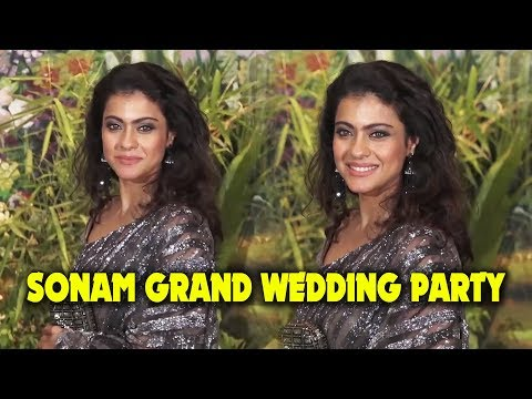 Ajay Devgn's Wife Kajol GRAND Entry At Sonam Kapoor Wedding Party