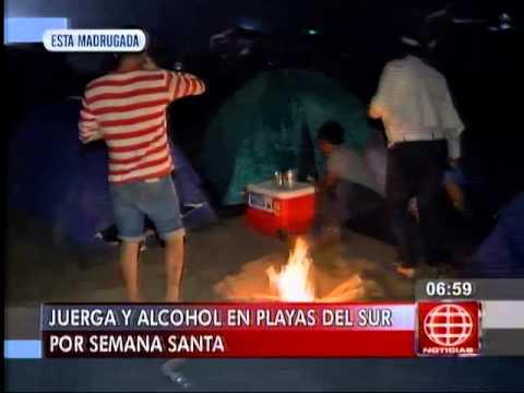 América Noticias: Fiesta y alcohol: así se vive la Semana Santa en el sur de Lima