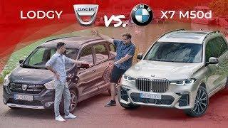 BMW X7 M50d vs. Dacia Lodgy 1.5 dCi | Porovnali sme neporovnateľné!
