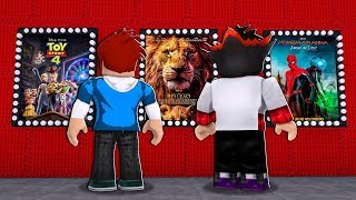 WAS MOVIE TO WATCH IN THE MOVIE IN ROBLOX-LION KING? SPIDER MAN? TOY STORY 4?