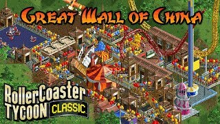 Great Wall of China | Asia | Rollercoaster Tycoon Classic | Wacky Worlds | Let's Play!