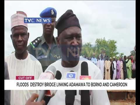 Floods destroy bridge linking Adamawa to Borno and Cameroon