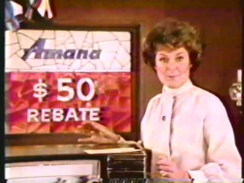 Barbara Hale 1979 Amana Microwave Commercial