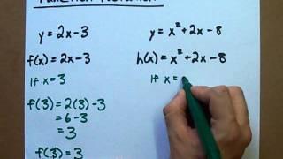 باستخدام وظيفة التدوين - ما هي f(x)?