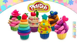 Play Doh Cupcakes. Modelling Creative Ice Cream Cupcake. Play Doh Videos. Art for KIds Video