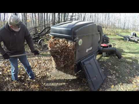 Fall Yard Cleanup - Picking Up Leaves & Our Composting System Part 1 of 2