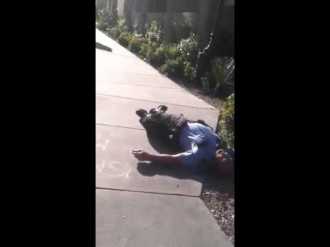 Security Guard gets Brain knocked out by homeless person