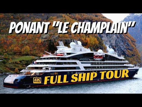 Ponant Le Champlain | Ship Walkthrough Tour & Review | 4K