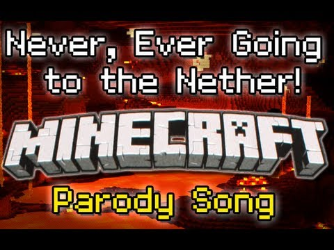 "Thumbnail: ♪ ""Never Ever Going to the Nether"" A Minecraft Song Parody of Taylor Swift's ""We Are Never.."" ♪"