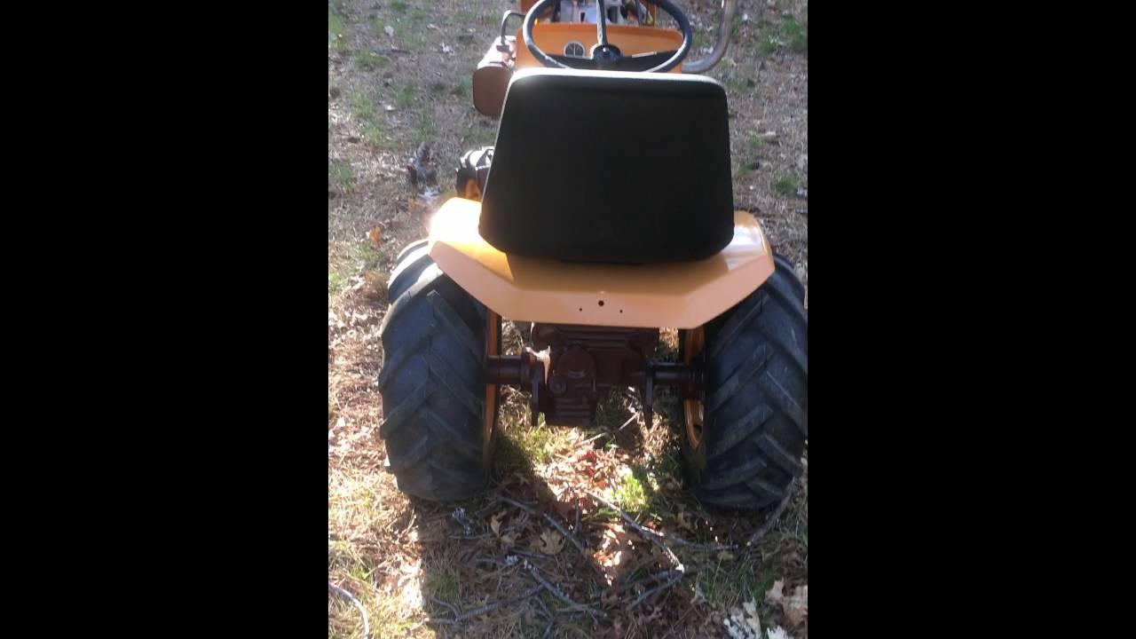 Bolens 1050 garden tractor restoration and a diesel engine swap near  completion!!!! - walk around