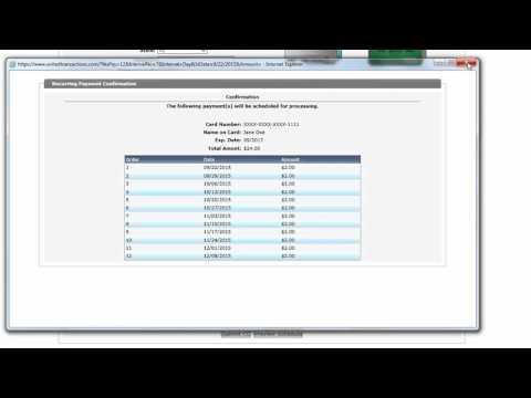 Recurring Transaction Option