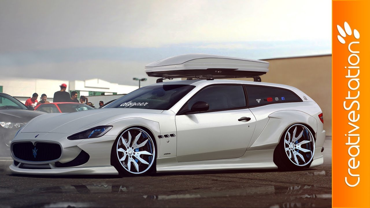Maserati Gran Turismo Sport Wagon   Speed Art (#Photoshop) | CreativeStation