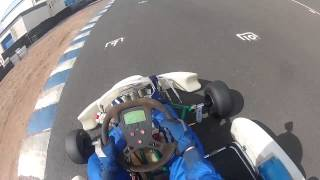 2 Laps Onboard at ESKC with a Vortex VR-CW on a 2005 Tony Kart