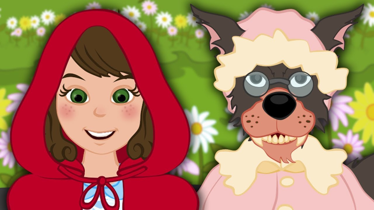 Красная Шапочка и Серый Волк сказка для детей, анимация и ...