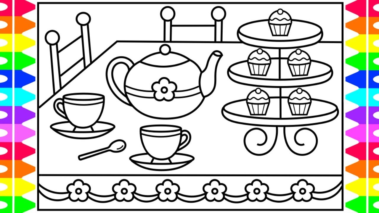 How To Draw A Teapot For Kids Teapot Drawing For Kids