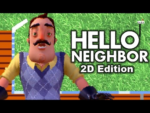 HELLO NEIGHBOR'S NAME REVEALED?! | 2D Hello Neighbor