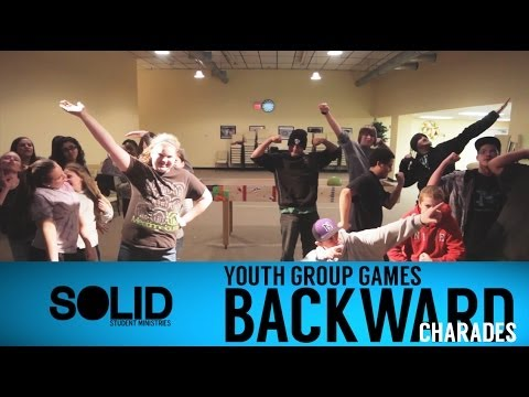 Youth Group Games - Backward Charades