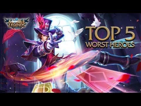 Mobile Legends: Top 5 Worst Heroes