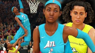 JUWANNA MANN DEBUT WNBA GAME! INSANE DUNK IN TRAFFIC! NBA 2K20 WNBA MyCAREER