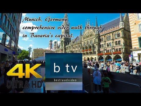 Munich, Germany comprehensive video walk through in Bavaria's capital in 4K.