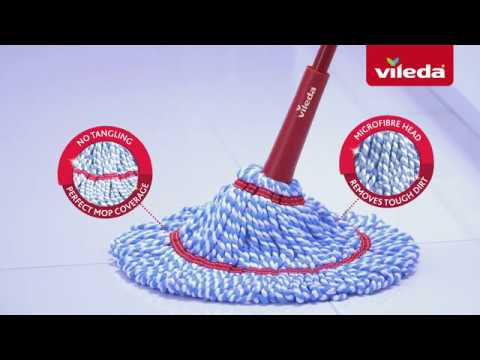 How To Use The Vileda Microtwist Mop Microfibres That Remove Tough