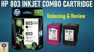 HP INKJET Combo Cartridge - Unboxing amp Review hp 803 Installation in Printers Deskjet 2131