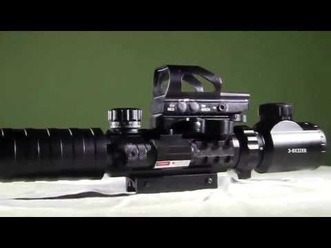 Amazon Tactical Riflescopes Optics 3-9x32 EG 4 IN 1 Combo Rifle Scopes
