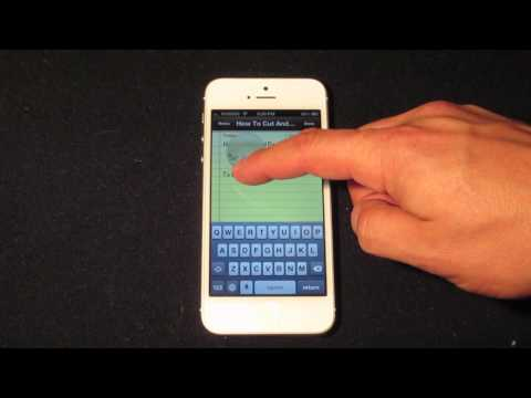 How To Copy And Paste On The iPhone 5s/5c 5, 4s and 4 - How To Use The iPhone 5`