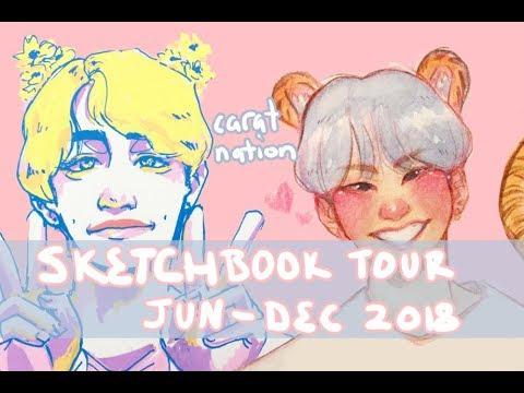 Sketchbook Tour! Jun '18 - Dec '18