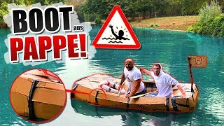 EXPERIMENT: Wir BAUEN ein BOOT aus PAPPE!