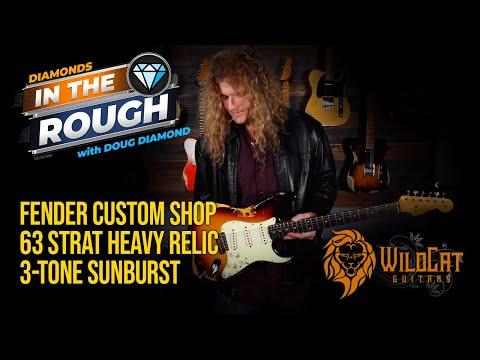 WildCat Guitars Diamonds In The Rough Fender Custom Shop 1963 Stratocaster Heavy Relic