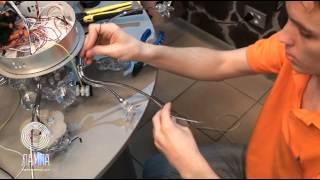 видео Ремонт люстры, учимся менять патрон.