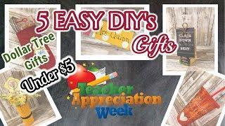 5 EASY Dollar Tree DIY's for Teacher Appreciation Week | Dollar Tree DIY's | DIY Dollar Tree