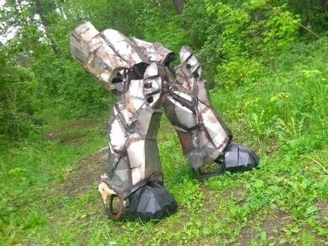 Боевой экзоскелет. Тест ног. Силовая броня.