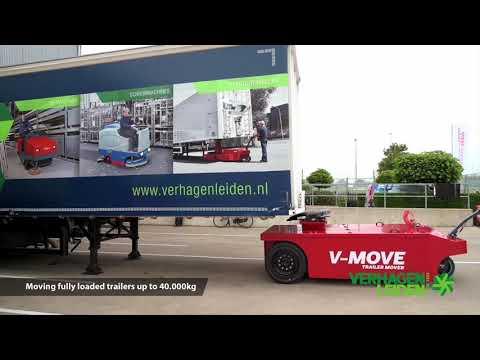 Vidéo du déménageur de semi-remorque à conducteur marchant sur batterie V-move 40t - Xerowaste Solutions