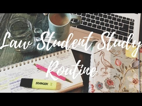 LAW SCHOOL STUDY ROUTINE - university student tips - how i s