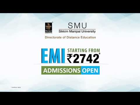 EMI option now available for Admission - Distance Education not so distant now!