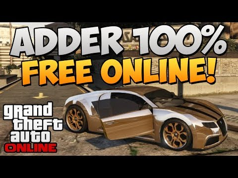 Gta Online How To Get Insure The Adder Bugatti For Free Online Get The Bugatti Free