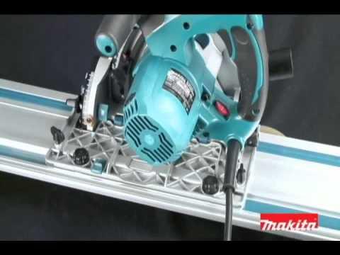 Scule electrice profesionale Makita . Ferastrau circular  SP6000 K cu sina de ghidaj