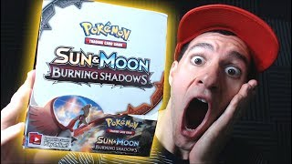 Pokemon BURNING SHADOWS Booster Box! Pokemon SUN and MOON TCG Cards Opening with Leonhart! Part 1