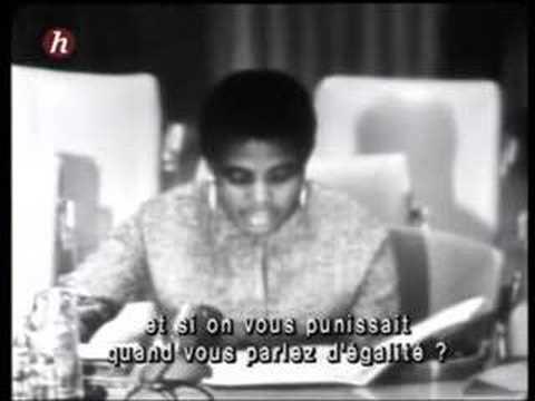 Miriam Makeba, UN, 1963 (South African Apartheid)